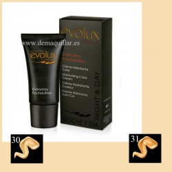 Evolux - Maquillaje Everyday foundation 50 ml crema hidratante color