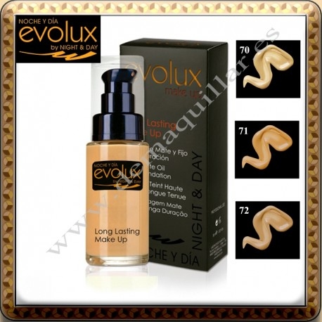 Evolux - Long Lasting Make Up 30 ml Maquillaje larga duracion